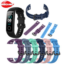 Silicone Wrist Strap For Huawei Honor Band 4 /5 Smart Sport Bracelet Strap For Huawei Honor Band 5 Band 4 Standard Versio Watch youkex 2017 new strap for huawei honor band 3 replacemnt fashion sport silicone band 6 colors for huawei honor3 smart wristband