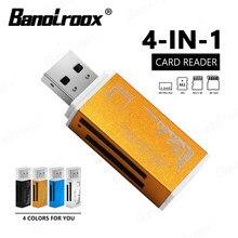 Controle de qualidade 4 em 1 leitor de cartão de memória para pro duo micro sd/t-flash/m2/ms memória flash micro sd leitor de cartão adaptador