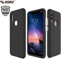 TOIKO X Guard 2 in 1 Black Phone Case for xiaomi Redmi Note 6 Pro Shockproof Protection Soft TPU Hard PC Hybrid Armor Back Cover(China)