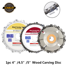 1pc 4/4.5/5 Inch Wood Craving Disc 13T/14T/22T Grinder Chain Discs Saws Angle Abrasive Cutting