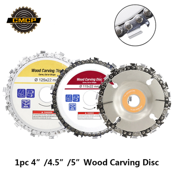 1pc 4/4.5/5 Inch Wood Craving Disc 13T/14T/22T Grinder Chain Discs Chain Saws Disc Angle Grinder Disc Abrasive Cutting Disc