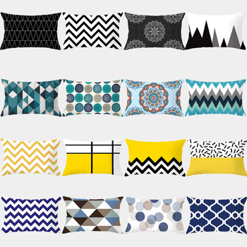 Geometric Patterned Rectangular Cushion Cover 1