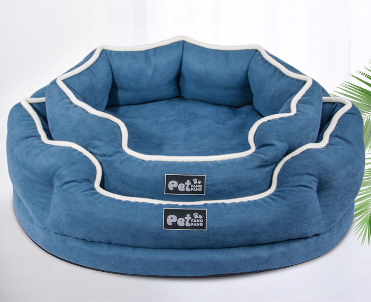 Four Seasons Pet Kennel Soft Velvet Pet Nest For Cats Dogs Washable Pet Dog Sleeping Mat Memory Cotton Dogs Sofa Bed Cats Nest (1)