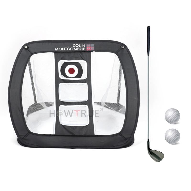 Indoor Outdoor 81 * 74 * 52cm Golf Practice Net Golf Practice Easy Net Golf Training Aids Metal + Storage Bag Gift For Kids