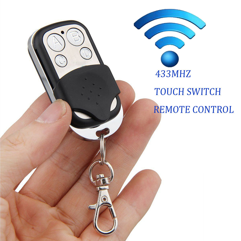 433 MHz 4-Channel Wireless RF Remote Control 4 Buttons Electric Gate Door Remote Key Fob Controll