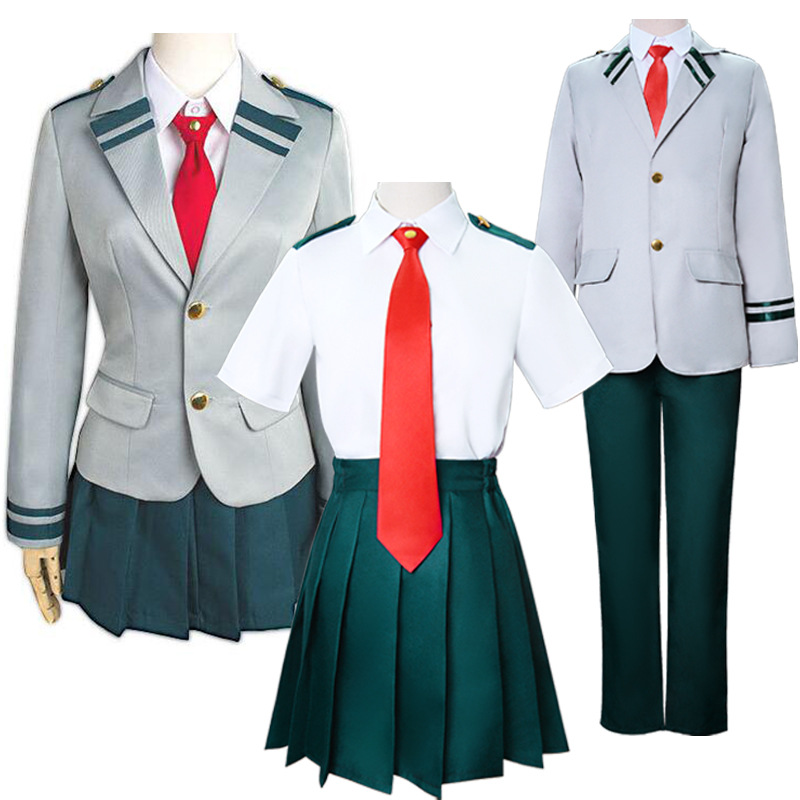 Us 10 88 32 Off Cosplay My Hero Academy Costume Boku No Hero Academia Asuitsuyu Yaoyorozu Momo School Uniform Ochaco Uraraka Midoriya Izuku On