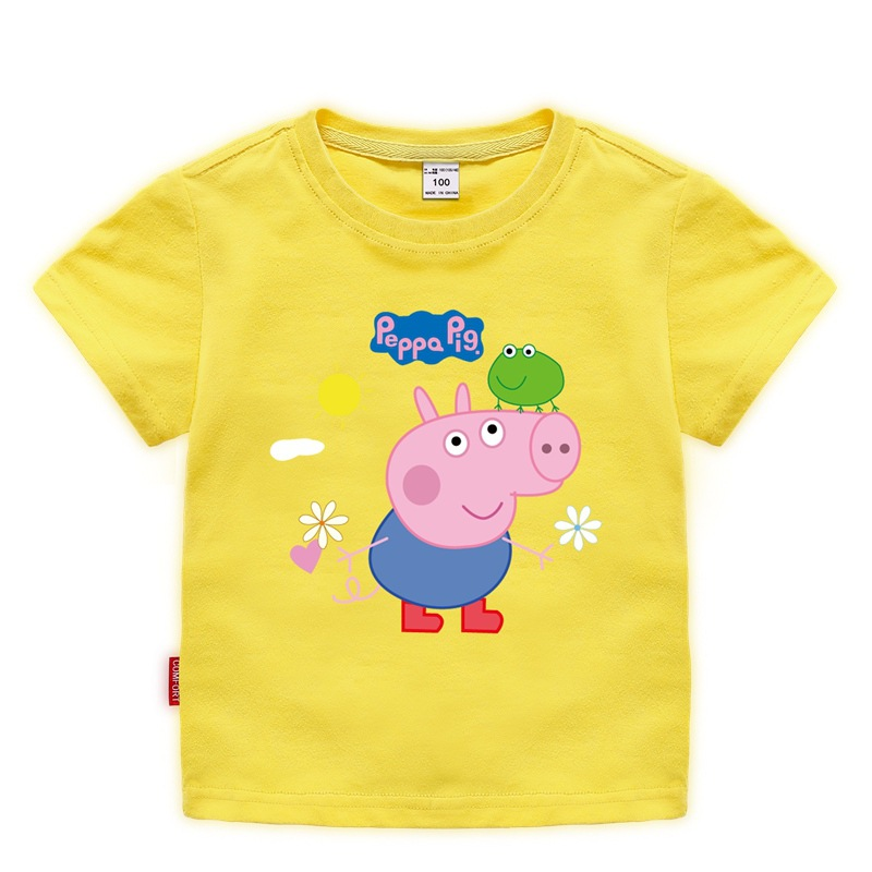 Summer Peppa Pig T-shirt Kid Clothes Baby Kids Children Chase Rocky Short Sleeve Toy Plus Dolls Costume Wholesale 8-11 Years