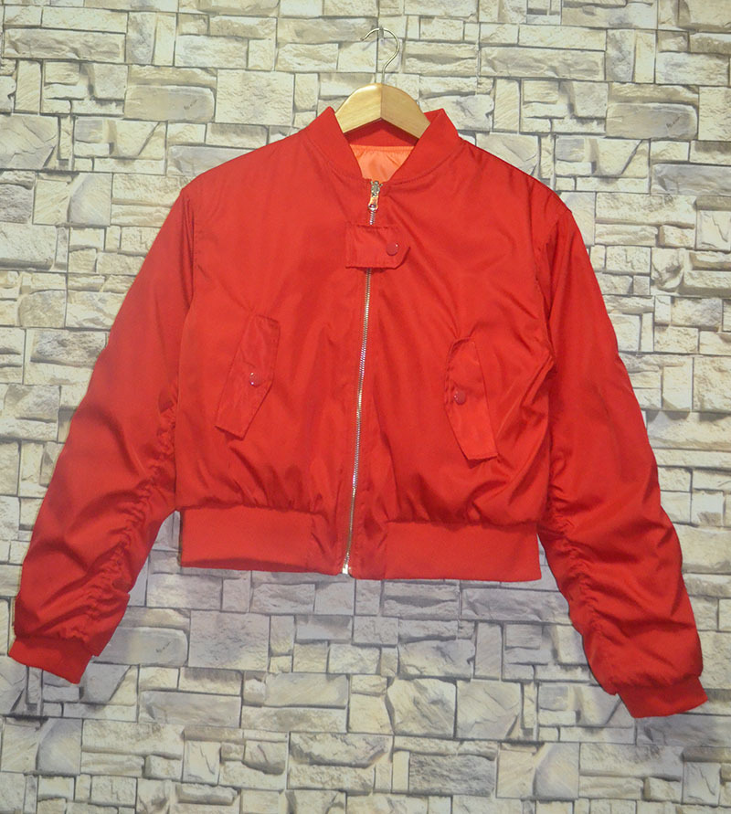 2019 Autumn Coat Red Two sided Wear Cotton padded Jacket Coat Padded Baseball Suit Women Zipper O Neck Full Coat Women Jackets in Jackets from Women 39 s Clothing