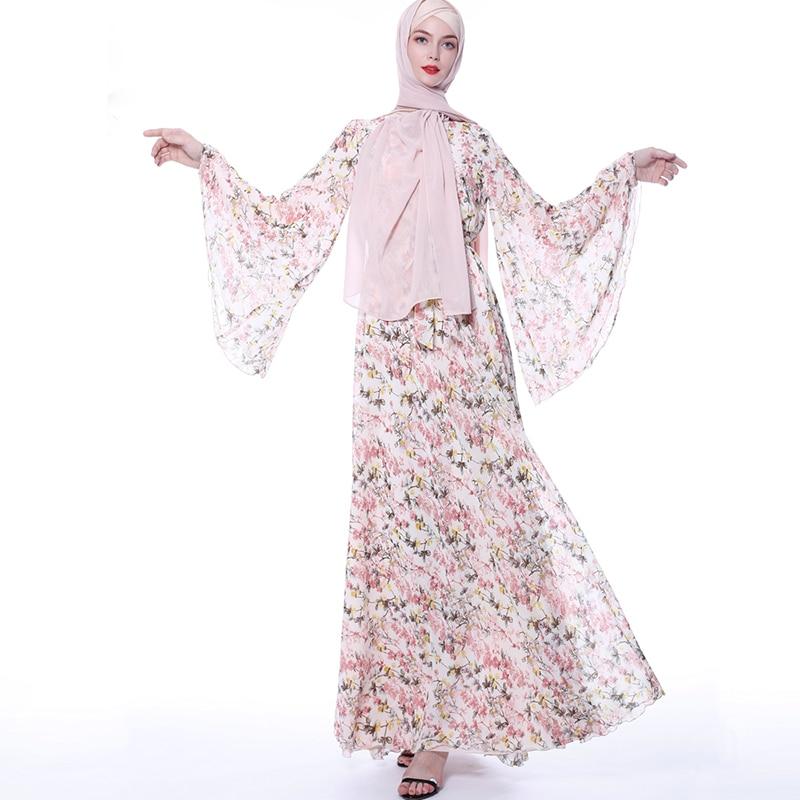 Vestidos Abaya Turkey Islamic Arabic Hijab Muslim Long Dress Caftan Dubai Kaftan Tesettur Elbise Robe Musulmane Longue Dresses
