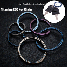 Настоящее титановое кольцо для ключей супер легкий титан брелок для ключей креативные EDC брелоки Quickdraw открытый инструмент