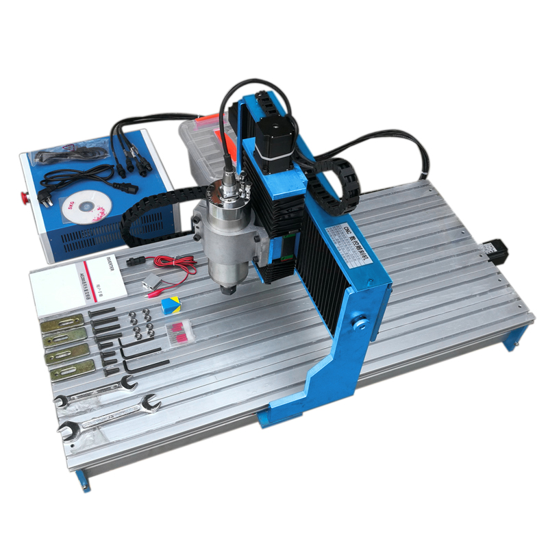 1500W CNC Router 9040L 4Axis Metal Engraving Machine Linear Guideway Aluminum Cutter Copper Engraver With Limit Switch Drill Bit