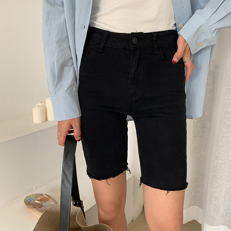 Women Summer Plus Size Shorts Korean  Gray Lace Sexy  Shorts Sports Rope Tie Sweatpants Fringe  White