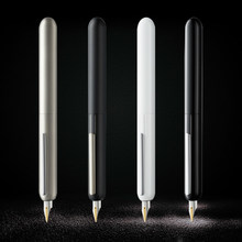 stationary supplies Red Dot Design Award LM Dialog Focus 3 Fountain Pen Black Titanium Tip Nib Ink Retractable Pens