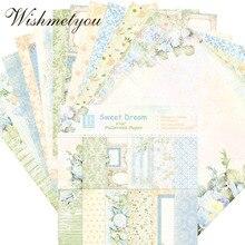 WISHMETYOU 24PCS DIY Small Fresh Flowered Plant Album Scrapbook Handmade Background paper Accessories Decoration Sweet Dream