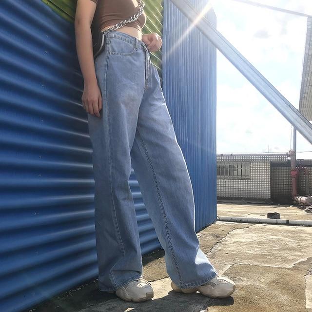 Ladies Straight Leg Baggy Jeans 2