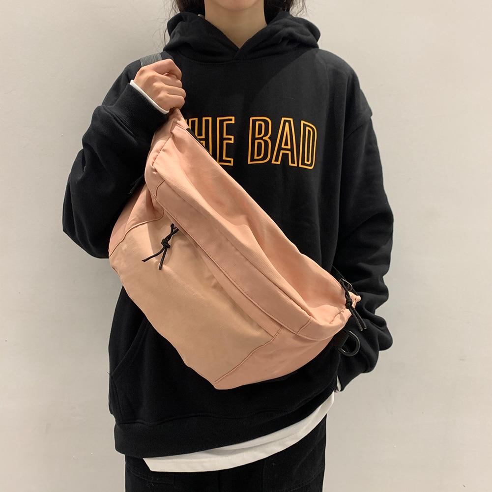 Womens Waist Pack Canvas bags Multi-functional Waist Bag Retro Style Leisure Crossbody Shoulder Bag
