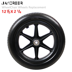 JayCreer 12 Inch ,14 Inch,Inner Hole Diameter 12mm Rear Wheel Replacement For Wheelchairs