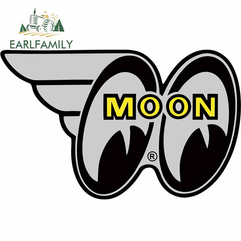 EARLFAMILY 13cm X 8.1cm For Mooneyes Car Stickers And Decals Car Accessories Graffiti Sticker Funny Vehicle Decal Decoration