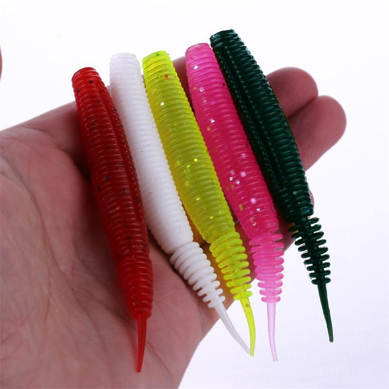 Plastic Worm Artificial  Carp Larva Fishing Lures Silicone Soft Bait Swimbait