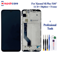 5.84 Lcd with Frame For Xiaomi Play Lcd Display Touch Screen Digitizer Assembly For Xiaomi Mi Play Replacement Mi Play LCD