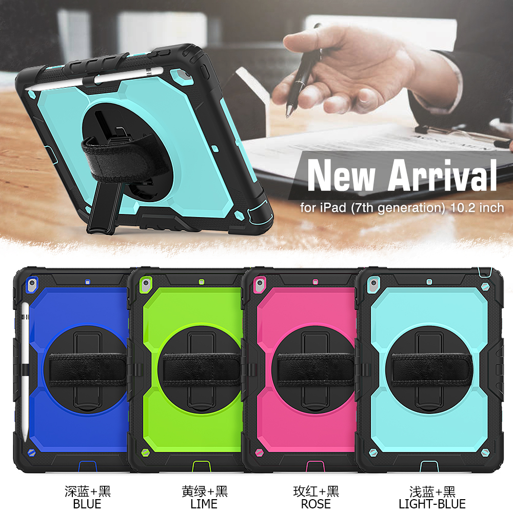 A2198 case cover funda 2020 PC 8th degree 360 Silicon 7th iPad For Kids straps Gen Stand 10.2 Shockproof A2232 rotation A2200