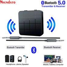 2 In 1 Bluetooth 5.0 Music trasmettitore Audio ricevitore 3.5mm AUX jack RCA Car Stereo Audio adattatore Wireless per Car TV PC Speaker