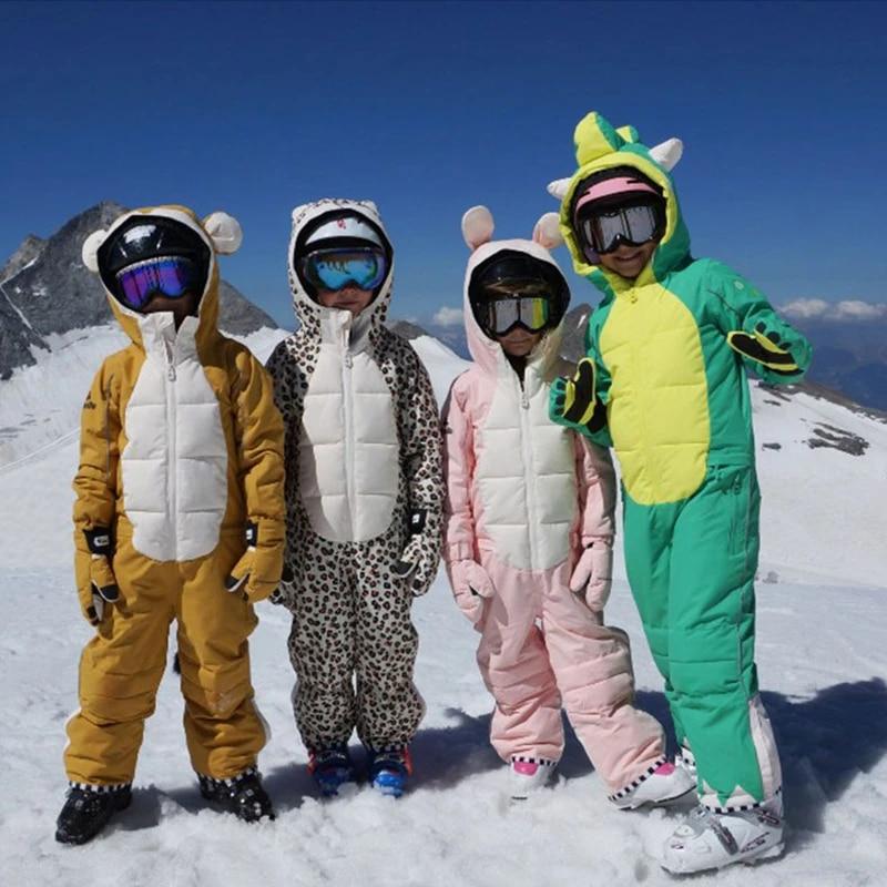 Kids Ski Jumpsuit Winter Waterproof Girls Boys Snow Wear One Piece Bib  Clothes Thick Snowboarding Jacket Child Without Gloves|Snowboarding Sets| -  AliExpress