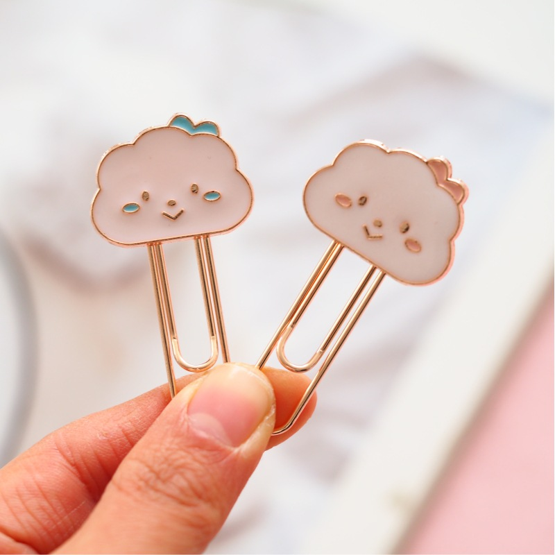 Cartoon Cloud Metal Bookmark Paper Clip School Office Supply Escolar Papelaria Gift Stationery