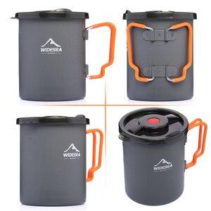 Image 5 - Widesea קמפינג קפה סיר עם צרפתית עיתונות חיצוני כוס ספל כלי בישול לטיולים טרקים