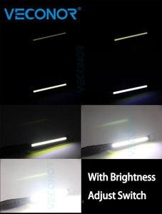 Image 5 - Luz de trabajo COB recargable para mantenimiento de inspección de coche, luz de trabajo portátil para exteriores, carga USB ajustable, luz de emergencia portátil de mano