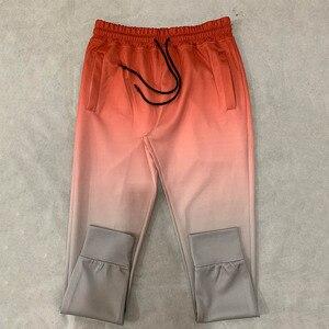 Image 5 - Pantalones de chándal con gradiente para hombre, ropa deportiva, culturismo, otoño