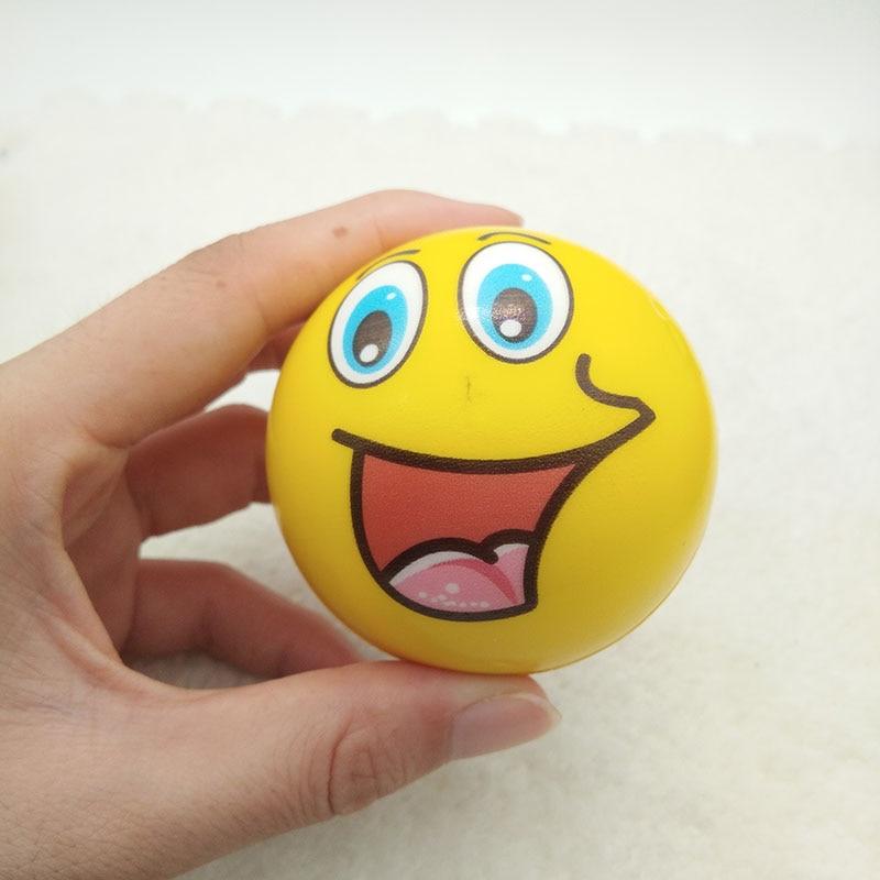6pcs 6 3cm Stress Balls Grimace Smiley Laugh Face Soft Foam PU Squeeze Squishy Balls Toys