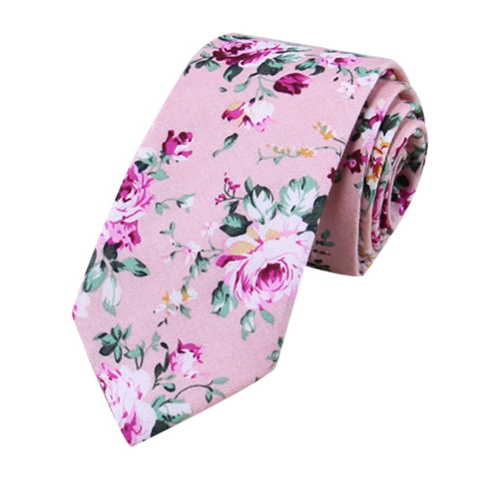 1 Pcs Fashion Accessories Men's Floral Tie Print Cotton Tie Men's Tie 6cm Slim Tie Tight Tie For Wedding Party Gifts Hot Sale