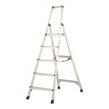 new 15 5ft step platform multi purpose all rustproof aluminum alloy folding scaffold step ladder for commercial use tool HASEGAWA Step Ladder Aluminium alloy wide pedal European standard ultra-high household step ladder multifunctional