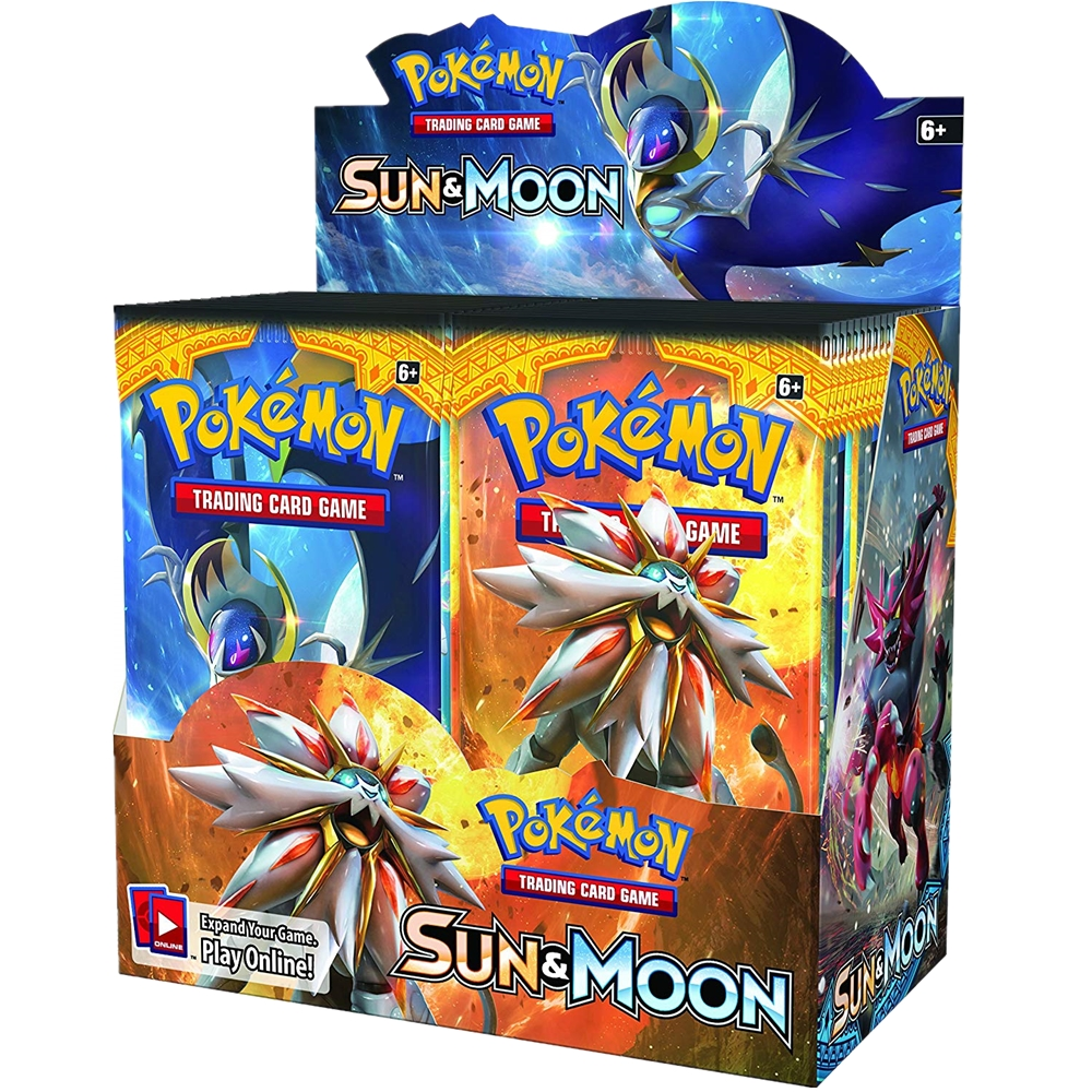 324pcs Pokemon Cards TCG: Sun & Moon Edition 36 Packs Per Box Collectible Trading Card Game