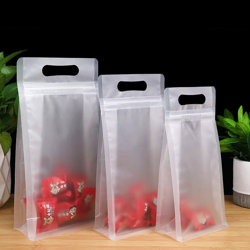 Frosted Clear Stand-Up Plastic Ziplock Pouches for Powdered Baking Flour Product
