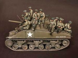 Image 2 - [Tusk 모델] 1/35 스케일 미공개 수지 피규어 수지 모델 키트 us soldier big set (14 피규어)