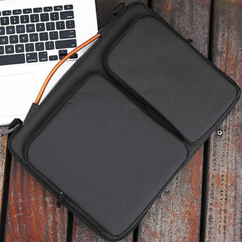 Mens Briefcase Maletin Hombre Office Messenger Bags For Macbook 13 14 15 15.6 Inch Laptop Bag Business Waterproof Shoulder Bag