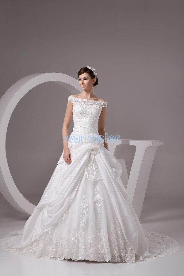 Free Shipping 2016 New Design Homemade Costumes Custommade Size/color Isabella Ball Gown Bridal Gown Lace Up White Wedding Dress