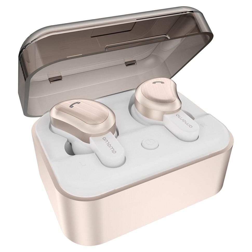 Casque Sans Fil Amorno écouteurs intra-auriculaires Sans Fil Bluetooth écouteur antibruit Ecouteur Sans Fil Bluetooth casque basse