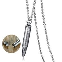 Vnox Can Open Bullet Pendant for Men Necklace 20