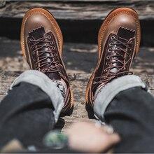 Осенне зимние винтажные британские мужские ботинки Классические
