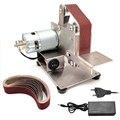 Mini Electric Belt Sander Angle Grinder Grinding Machine 15/25 Belt Grinder DIY Polishing Grinding Machine Cutter Edge Sharpener