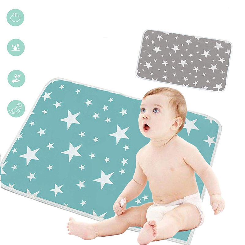 Baby Changing Mat Portable Cotton Diaper Changing Pad Washable Waterproof Baby Changer Travel Infant Urinal Bed Pad Play Mat Hot