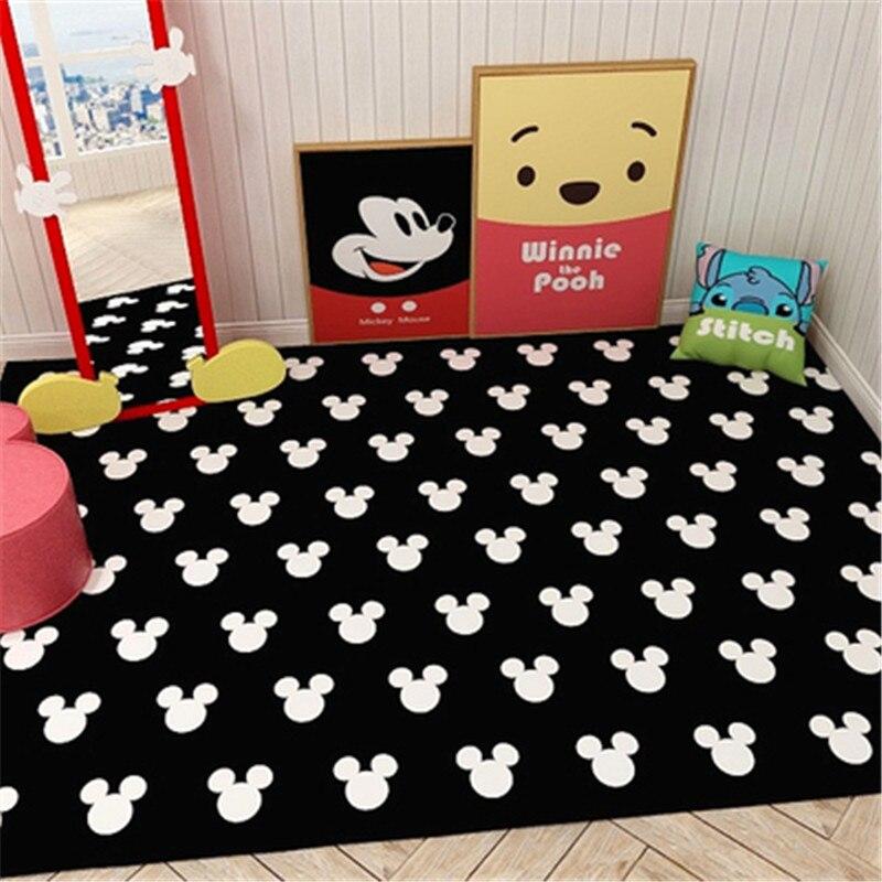 Cartoon Thick Baby Crawling Kids Play Mat Mickey Minnie Carpet Play Mat for Children's Mat Kid Rug Kitchen Bathroom Door Mat