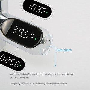 Image 5 - СВЕТОДИОДНЫЙ цифровой термометр для ванной комнаты, смесители для душа, поворот на 360 градусов, монитор температуры в реальном времени    M25