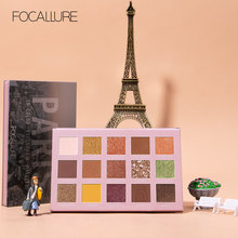 FOCALLURE GO TRAVEL Matte Eyeshadow Palette Shimmery Silky Powder Long Lasting Pigment Pressed Glitter Eye Shadow Pallete Makeup(China)