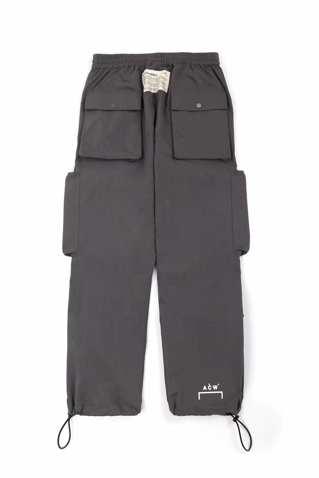 19ss Acw Cargo pantalon poche A froid mur pantalon Hip Hop Streetwear Acw cordon Streetwear kanye west Joggers pantalon A-COLD-WALL