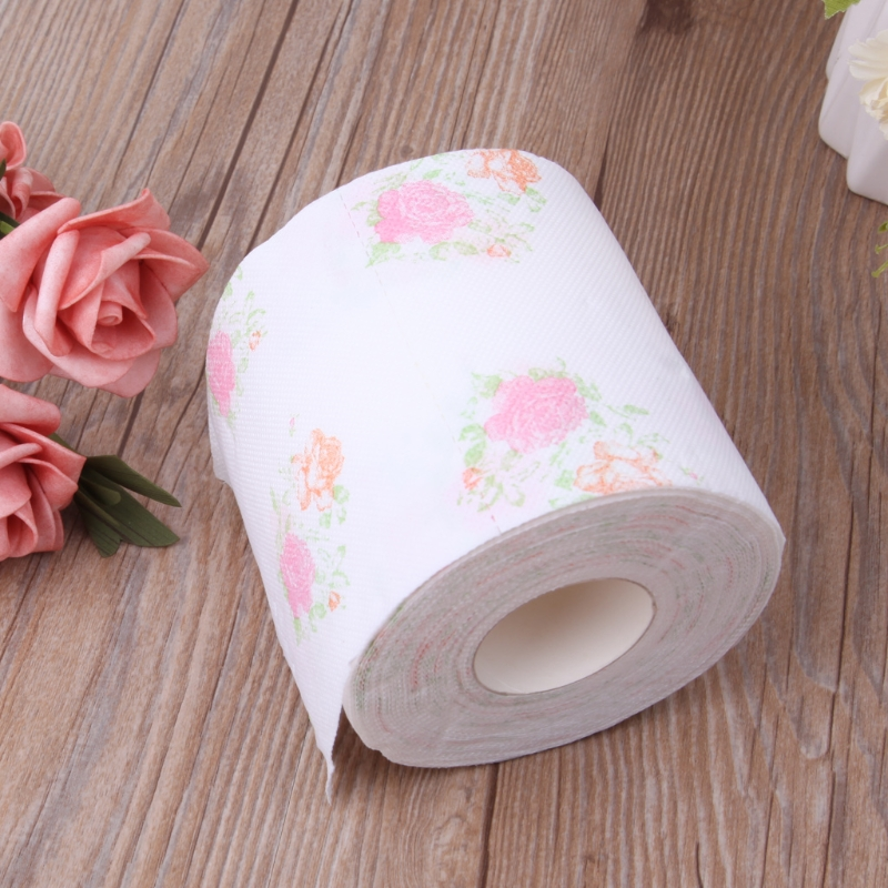 Flower Floral Toilet Paper Tissue Roll Bathroom Novelty Funny Gift Q0KD