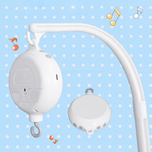 Baby Rattle Toy 0-12 Months Crib Mobile Toys Holder Rotaty Baby Crib Bed Bell Arm Bracket Music Box Babies Crib Toy For Newborns baby crib toy holder rattles 0 12 months baby plush toys bed bell toy angel bear music rattle mobile toys for little children
